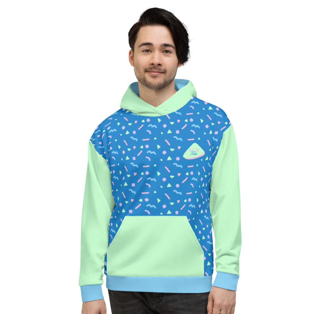 Hoodie homme femme 90s front