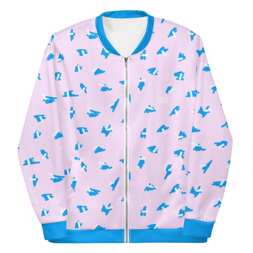 Veste bomber unisexe Pink cratch