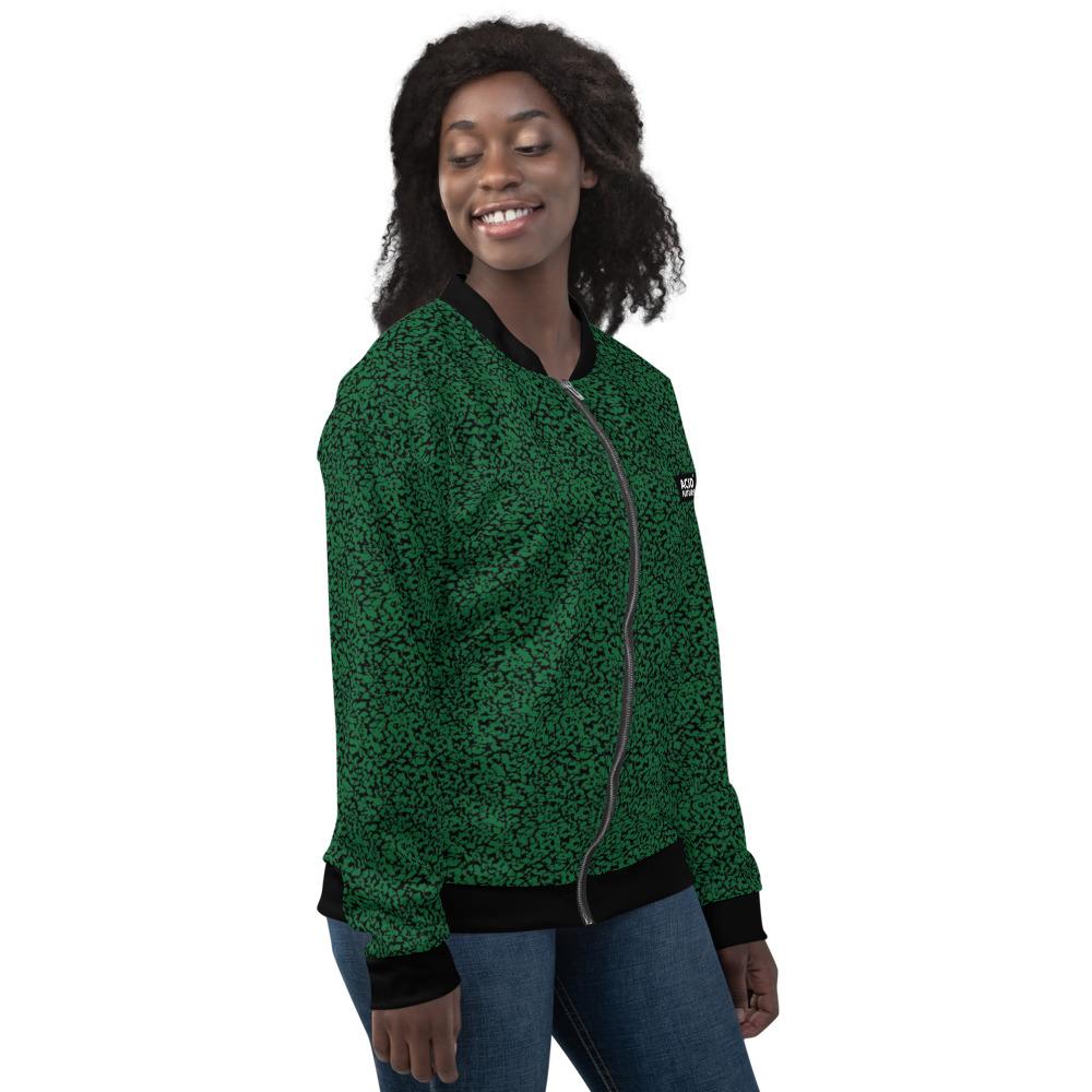 Veste bomber unisexe motif Moucheté Vert homme femme